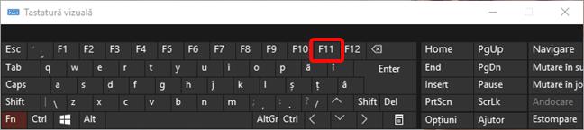 Tasta F11 lansează modul ecran complet în Internet Explorer