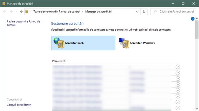 Manager de acreditări poate exporta parolele din Edge și Internet Explorer