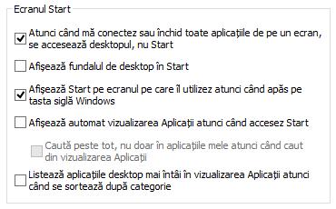 Desktop, Start, Windows 8.1