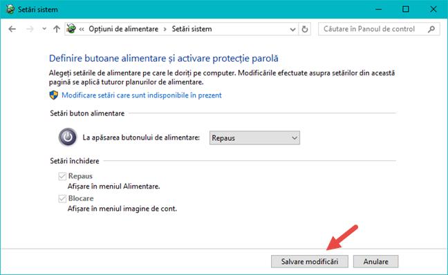 Windows, buton, Shut Down, oprire