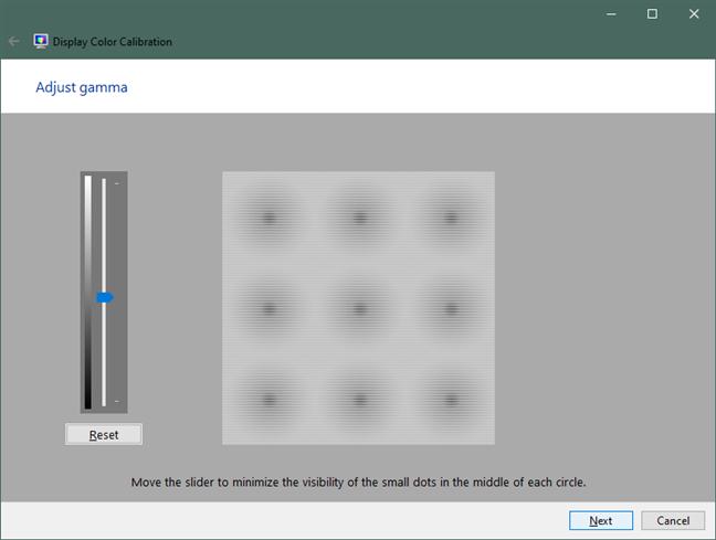 Reglare gamma în Windows 10