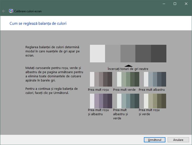 Cum se reglează balanța de culori în Windows 10