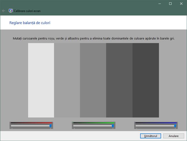Reglare balanță de culori în Windows 10