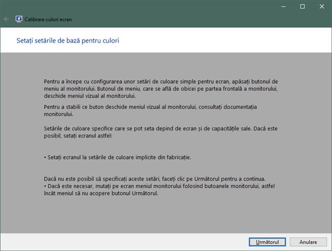 Setați setările de bază pentru culori în Windows 10