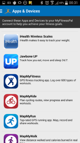jurnal, deficit caloric, MyFitnessPal, wearable, dispozitive, purtabile, mancare