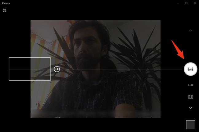 Fotografierea unei panorame cu un webcam și aplicația Cameră din Windows 10
