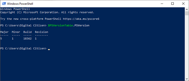 Verificarea versiunii de PowerShell