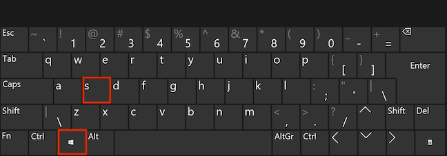 Apasă simultan Windows și S pentru a deschide Căutarea
