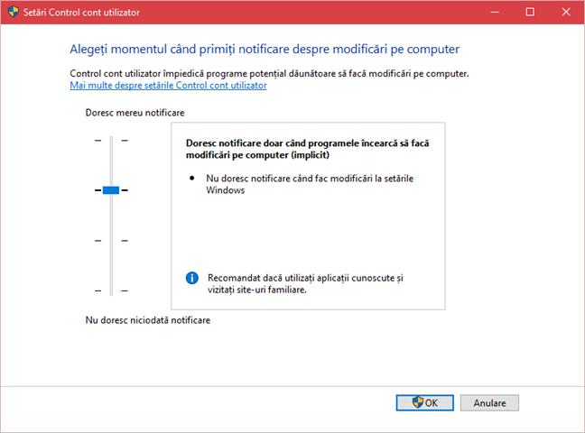 CCU, Control cont utilizator, Windows