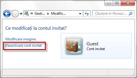 conturi utilizator, guest
