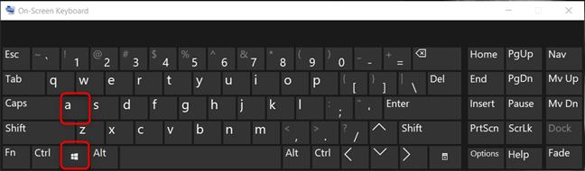 Deschide Centrul Acțiuni din Windows 10 folosind tastatura
