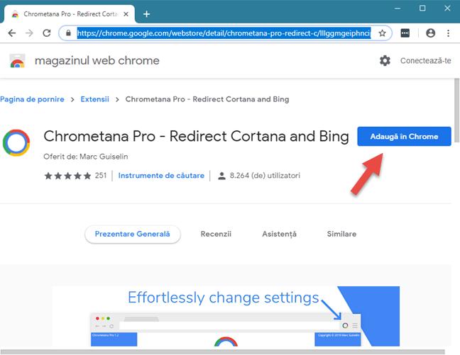 Extensia Chrometana Pro din Magazinul Web Chrome