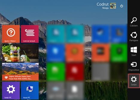 Start, ecran, dale, informatii, personale, Windows 8.1