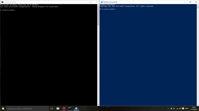 Windows 10, Command Prompt, Lina de comanda, PowerShell, noutati, caracteristici