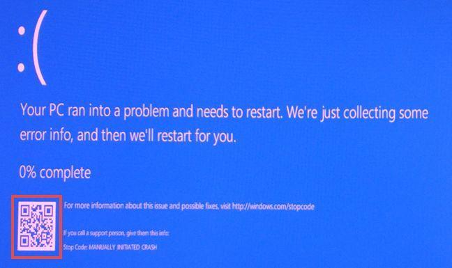 BSOD, ecran albastru, mortii, Windows 10, cod, QR, scaneaza