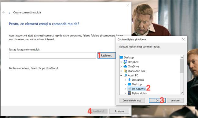 Crearea unei scurtături către un folder nu este diferită de crearea uneia către o aplicație sau un fișier