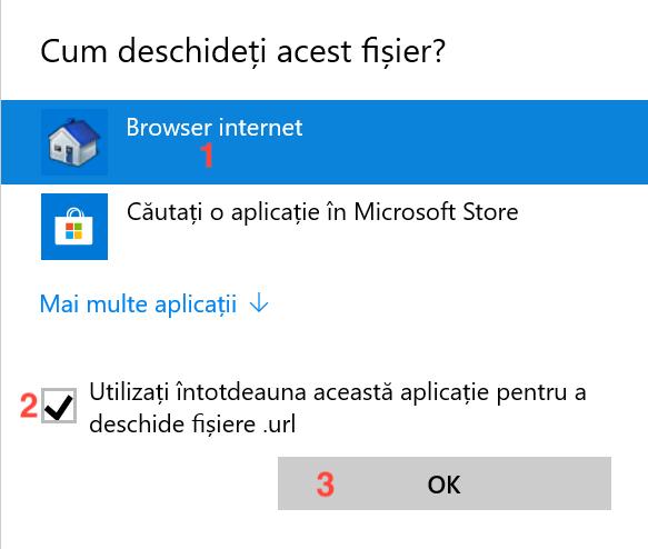 Windows 10 are nevoie de instrucțiuni speciale pentru fișierele .url