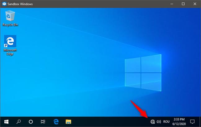 Windows Sandbox deschis fără rețea