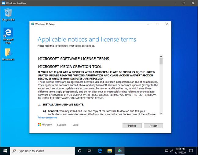 Un program care se deschide automat odată cu Windows Sandbox