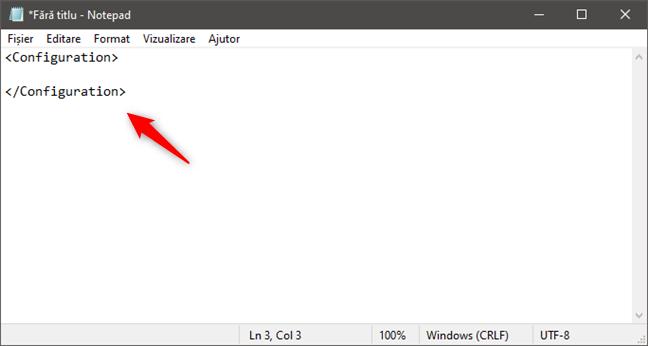 Crearea unui fișier de configurare pentru Windows Sandbox