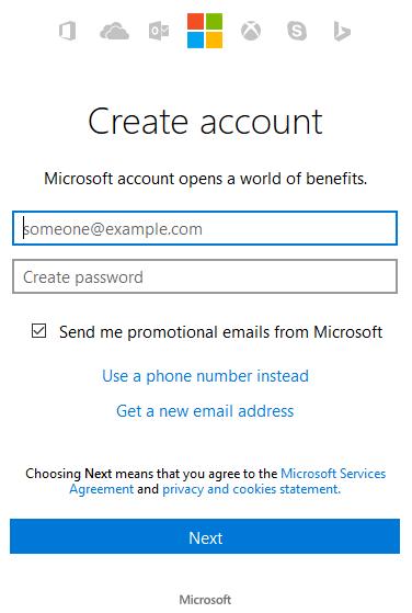 cont, Microsoft