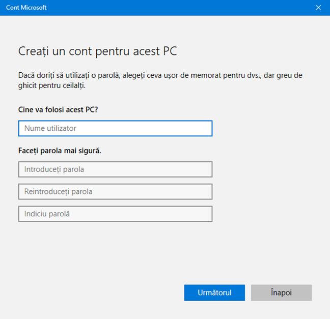Cont utilizator, username, Windows