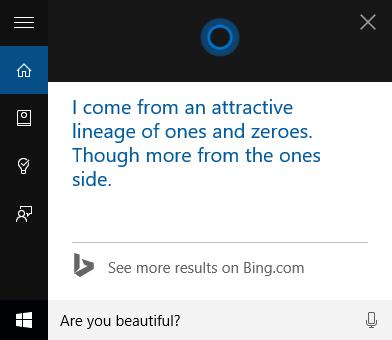 Cortana, umor, intrebari, amuzant, Windows 10