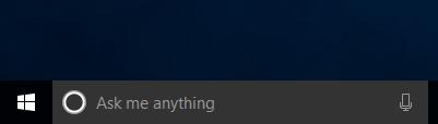 Cortana pe bara de activități