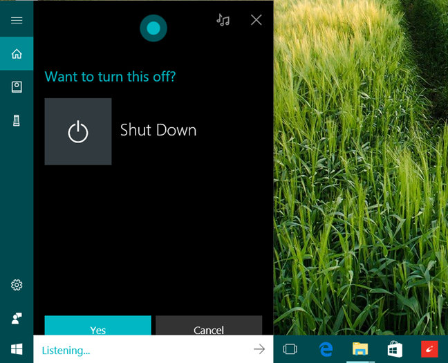 Cortana, Windows 10