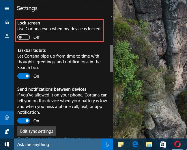 Windows 10, Cortana, activeaza, ecran, blocare