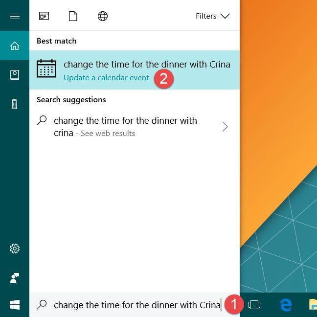 Cortana, Windows 10