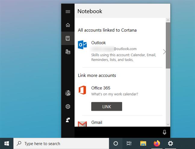 Resetarea serviciilor conectate la Cortana