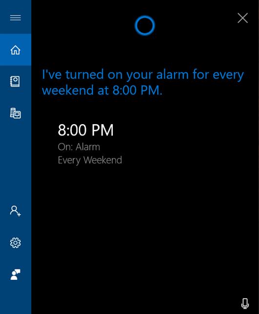 Setează o alarmă pentru weekenduri