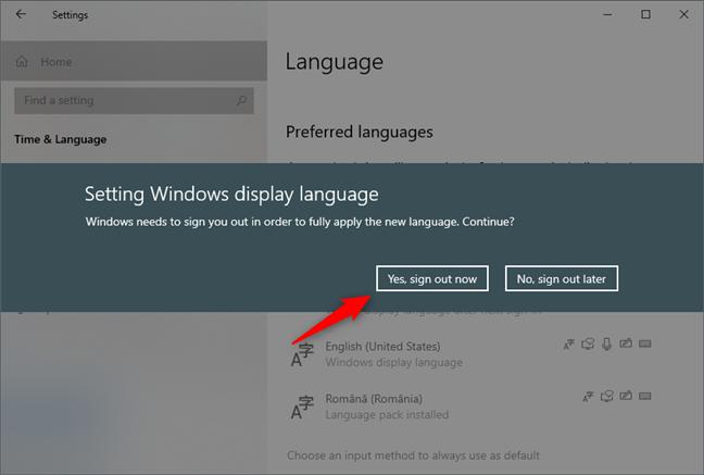 Windows 10 îți cere să te deconectezi