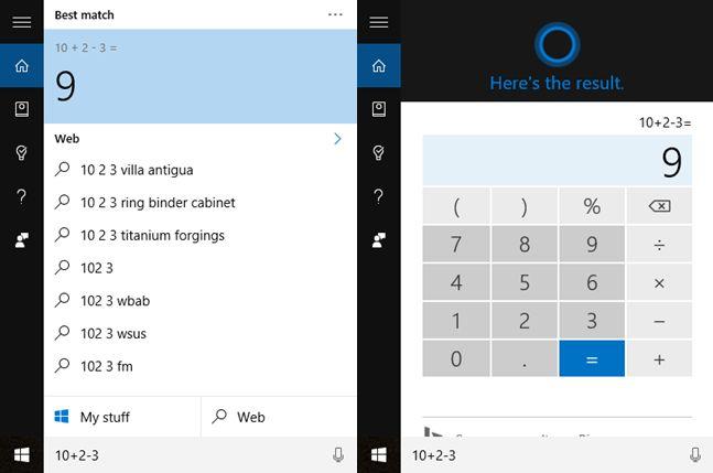 Cortana, calculator, matematica, rezolva, probleme, Windows 10, Windows 10 Mobile