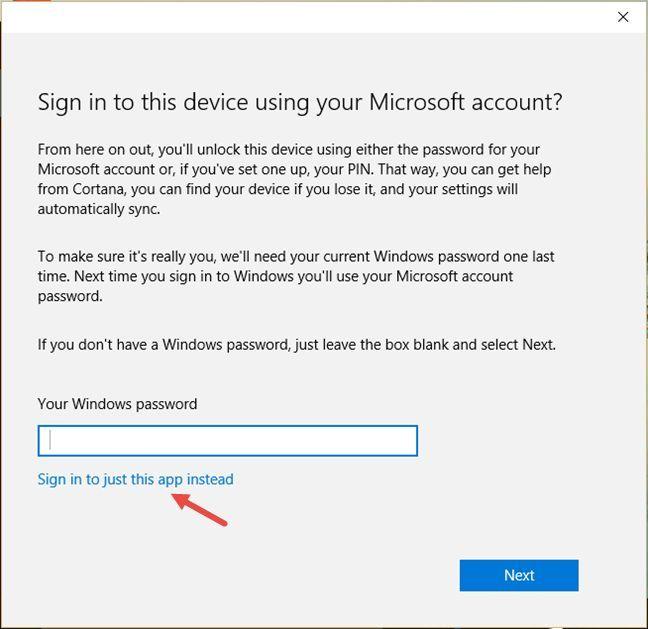 Windows 10, Cortana, utilizator, local, cont, seteaza, foloseste