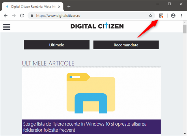 Butonul Web Activities din Google Chrome