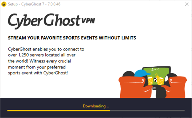 Instalarea CyberGhost VPN pe un PC cu Windows