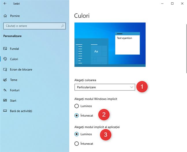 Cum oprești Dark Mode în Windows 10