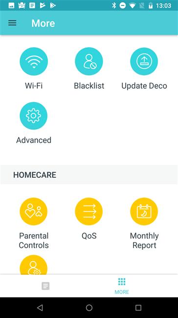 Aplicația mobilă TP-Link Deco