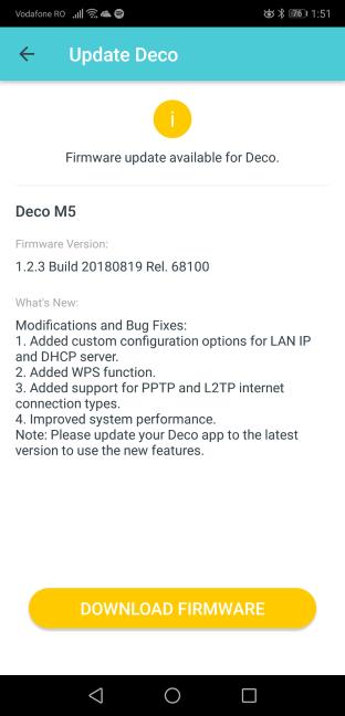 Actualizări de firmware pentru TP-Link Deco M5