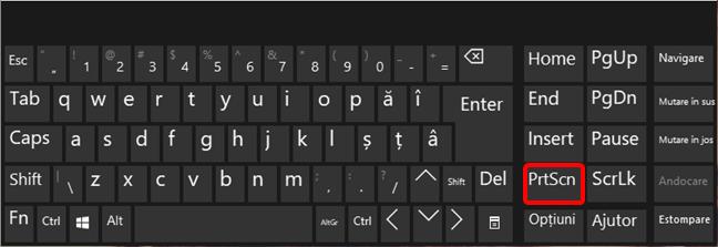 Apasă PrtScn pe tastatura ta pentru a face capturi de ecran în Windows 10
