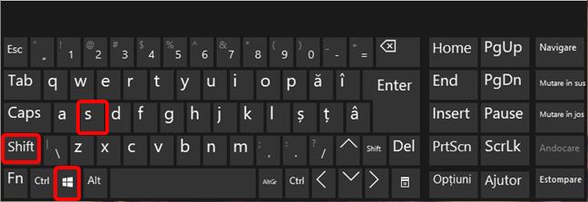 Comanda rapidă de tastatură Windows + Shift + S pentru Decupare și schițare