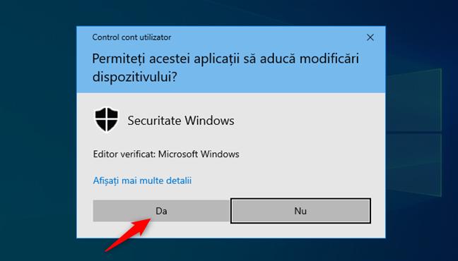Confirmare CCU (Control Cont Utilizator)