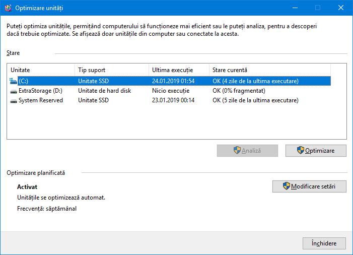 Selectează un solid state drive (SSD) pentru optimizare