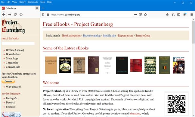 Project Gutenberg se concentrează pe materiale mai vechi, ale căror drepturile de autor au expirat în S.U.A.
