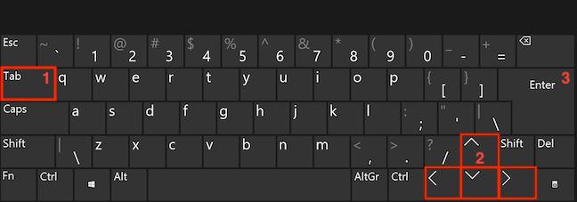 Folosește Tab, tastele săgeți și Enter pentru a accesa foldere în Windows 10