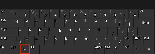 Tasta Windows pe tastatură