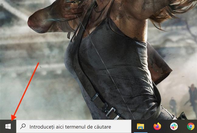 Dă clic sau apasă pe butonul Windows pentru a accesa aplicații