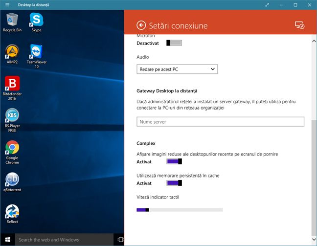 Desktop la distanta, Windows, aplicatie, Magazin, Windows Store, retea, conexiuni